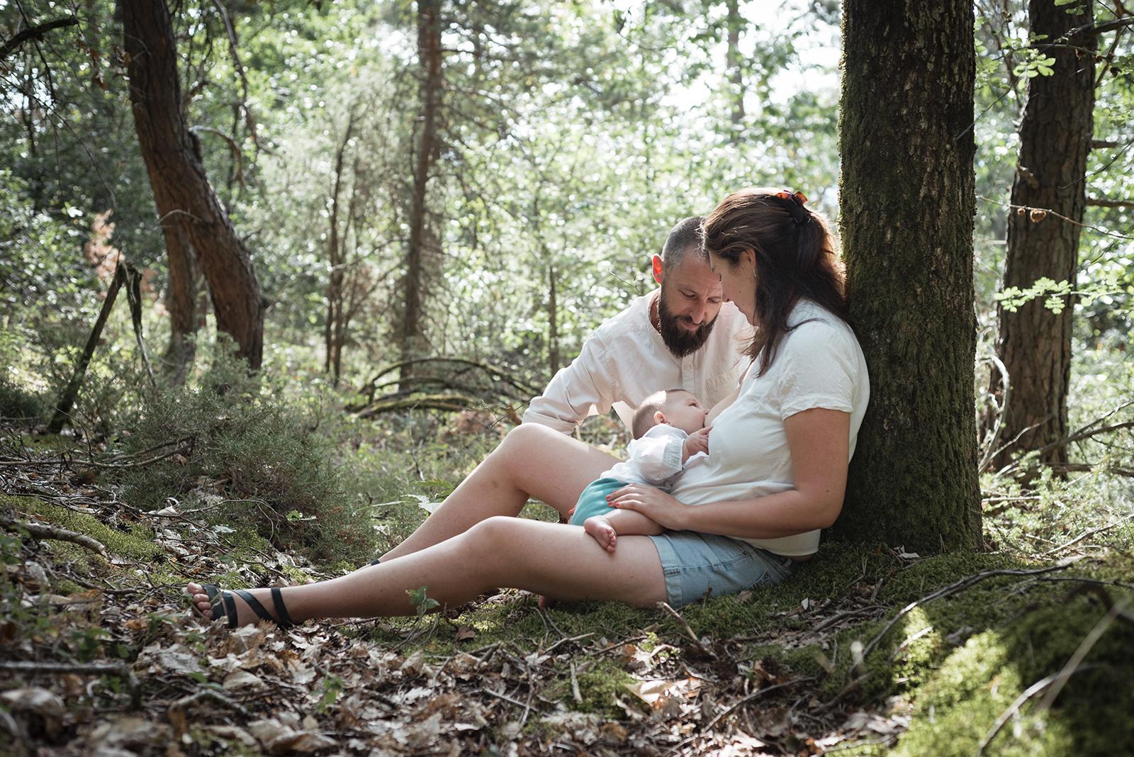 allaitement dans les bois