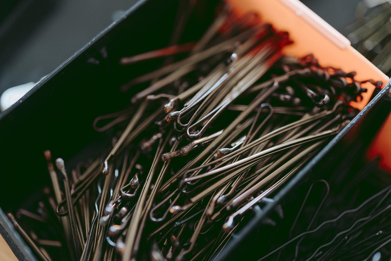 Photo d'épingles de coiffeuse