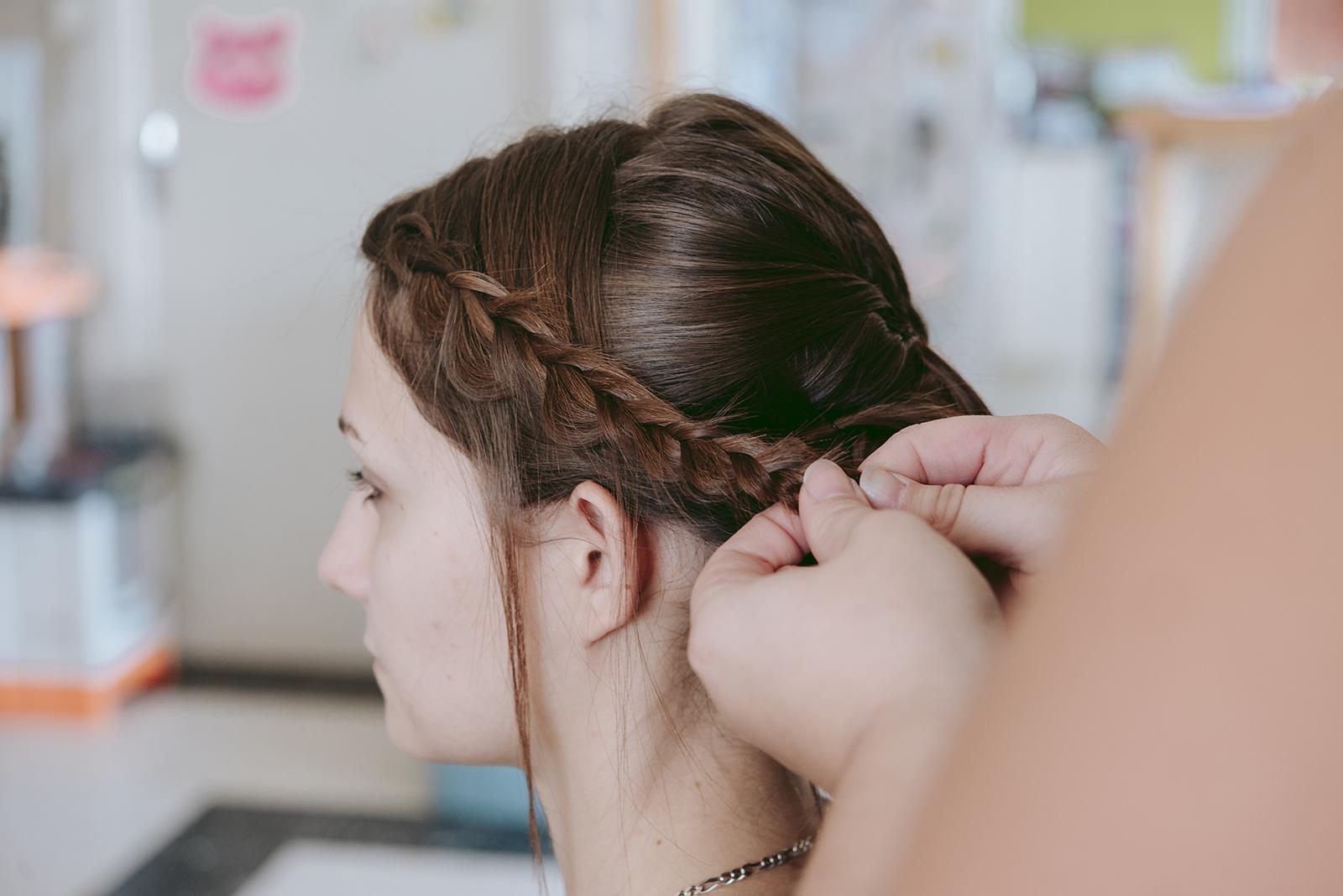 Photo d'une tresse de cheveux