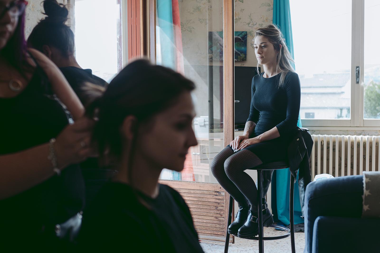 photo de backstage coiffure