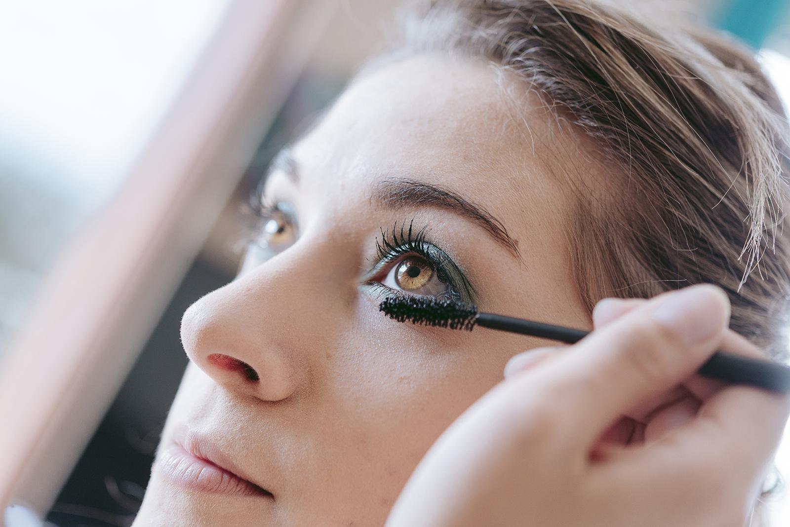 détails sur oeil et mascara