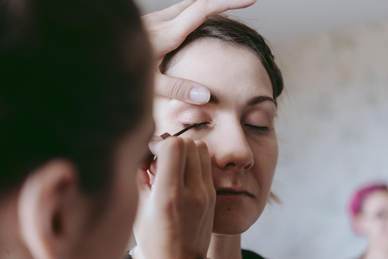 détail maquillage
