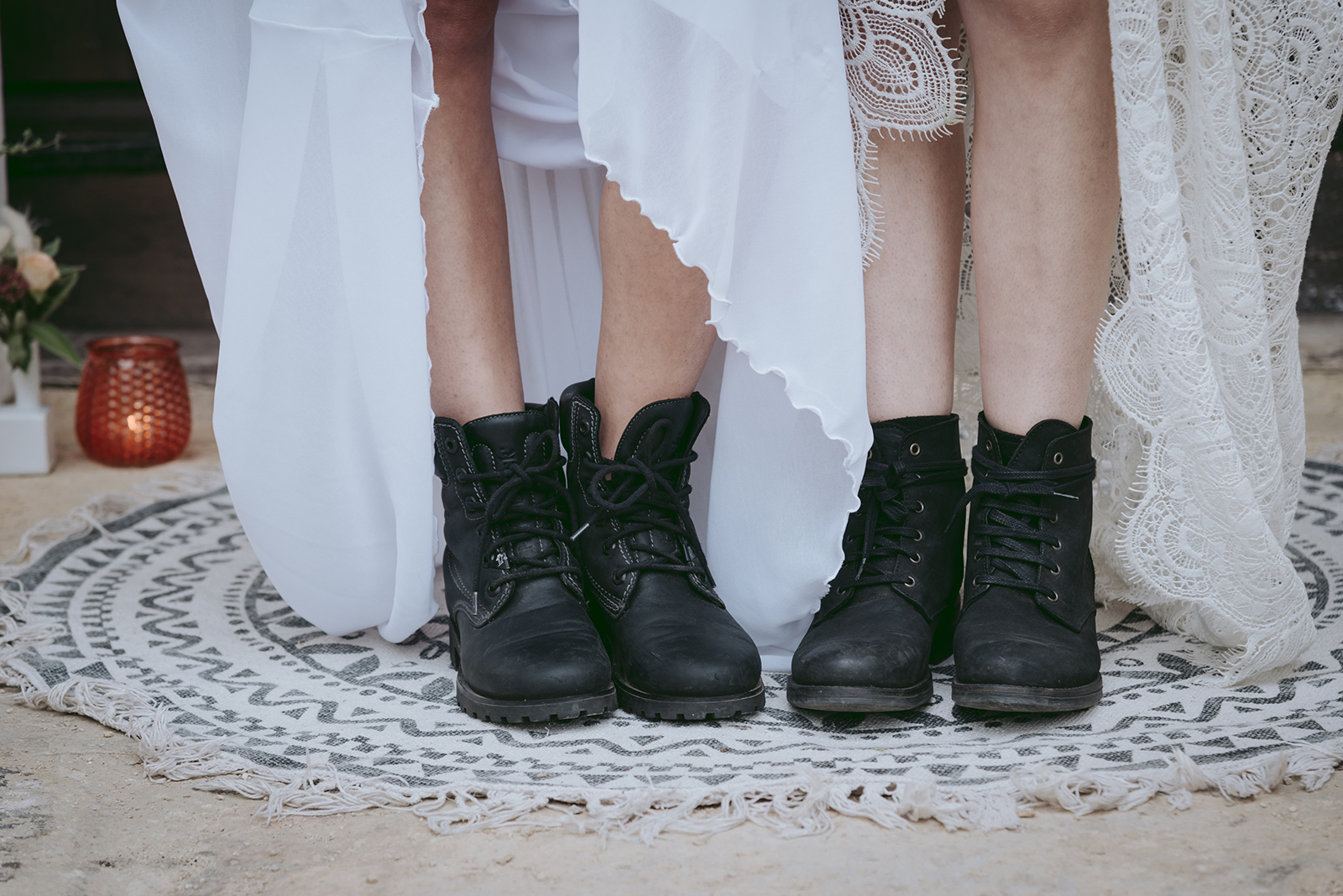 chaussures boots noirs mariage