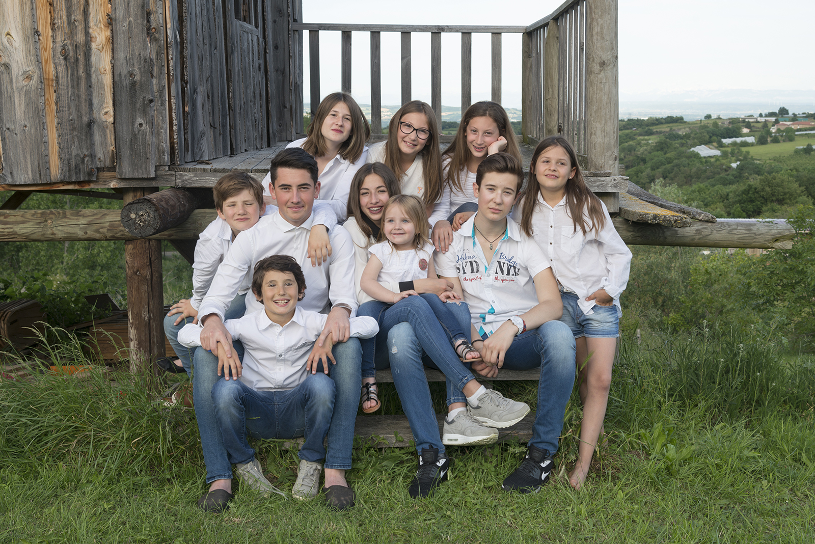 famille cousins ambiance cabane