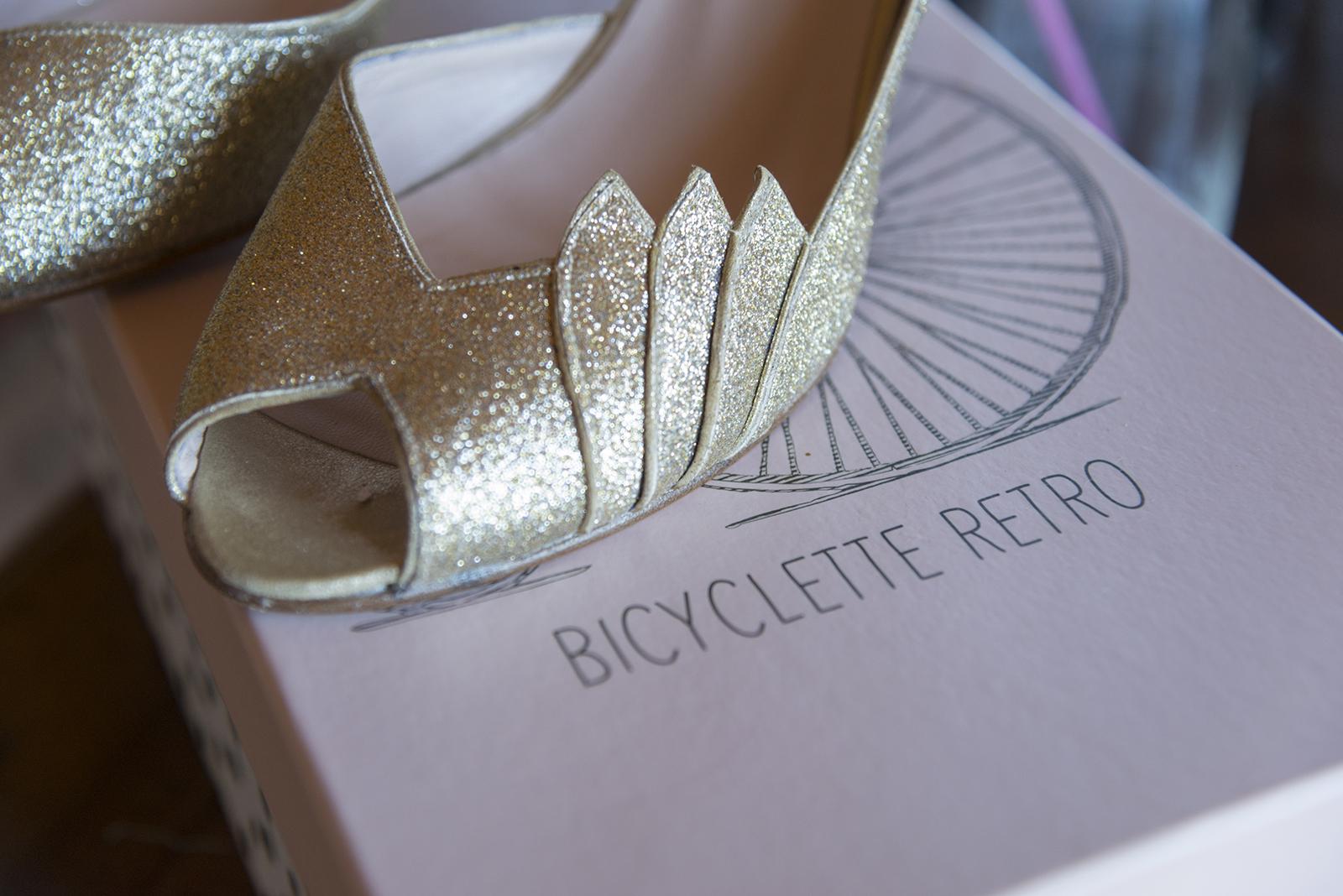 chaussur de mariage à paillettes
