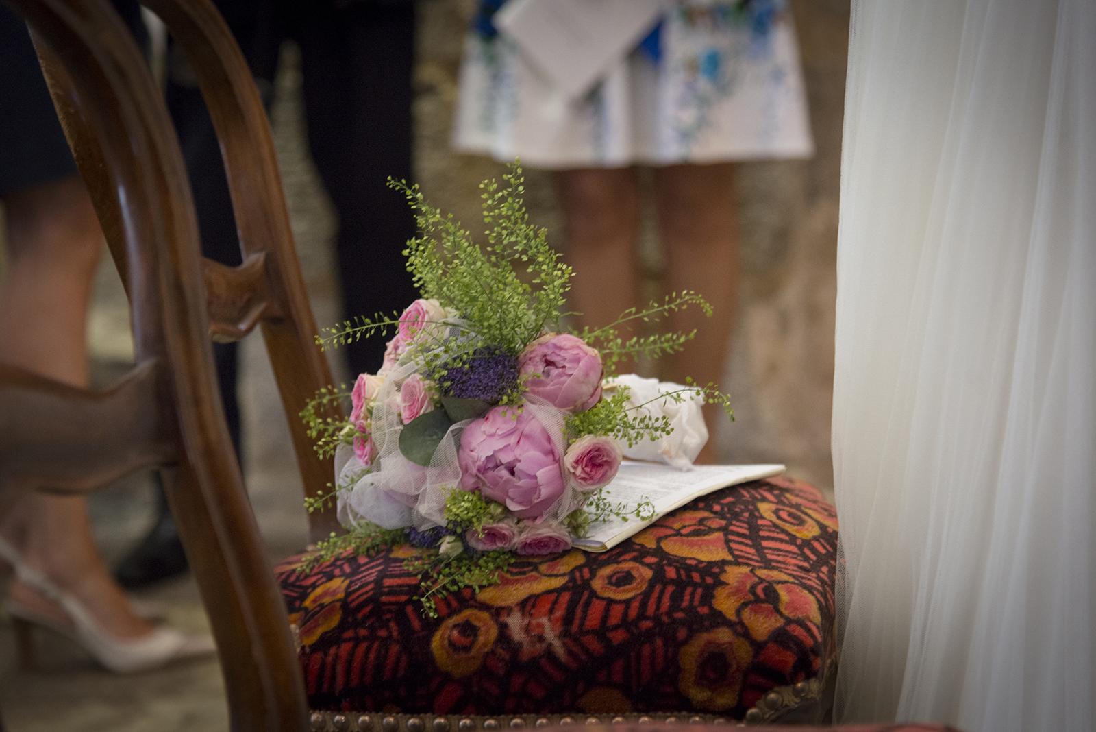 bouquet de la mariée à l'église