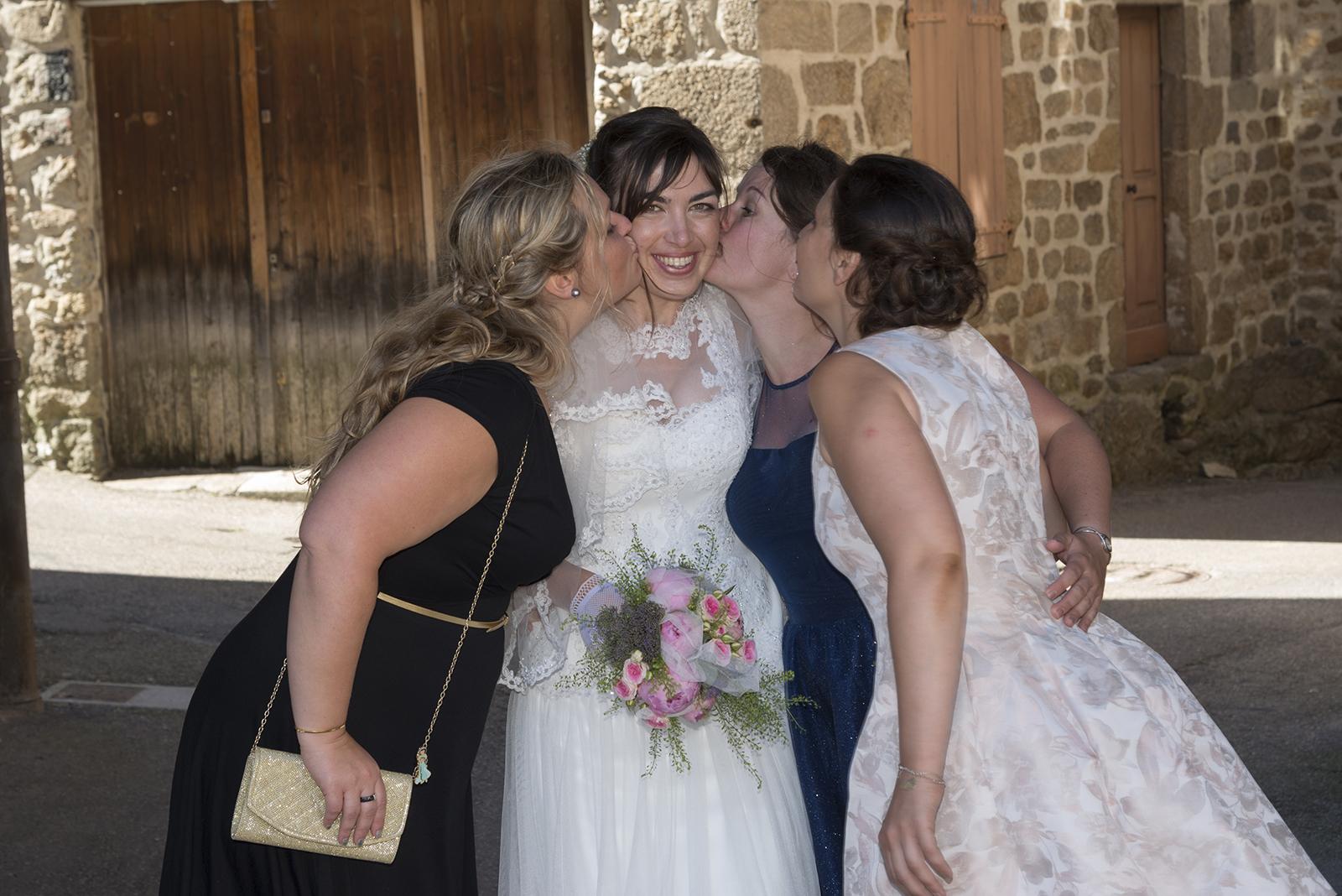 la mariée et ses temoins