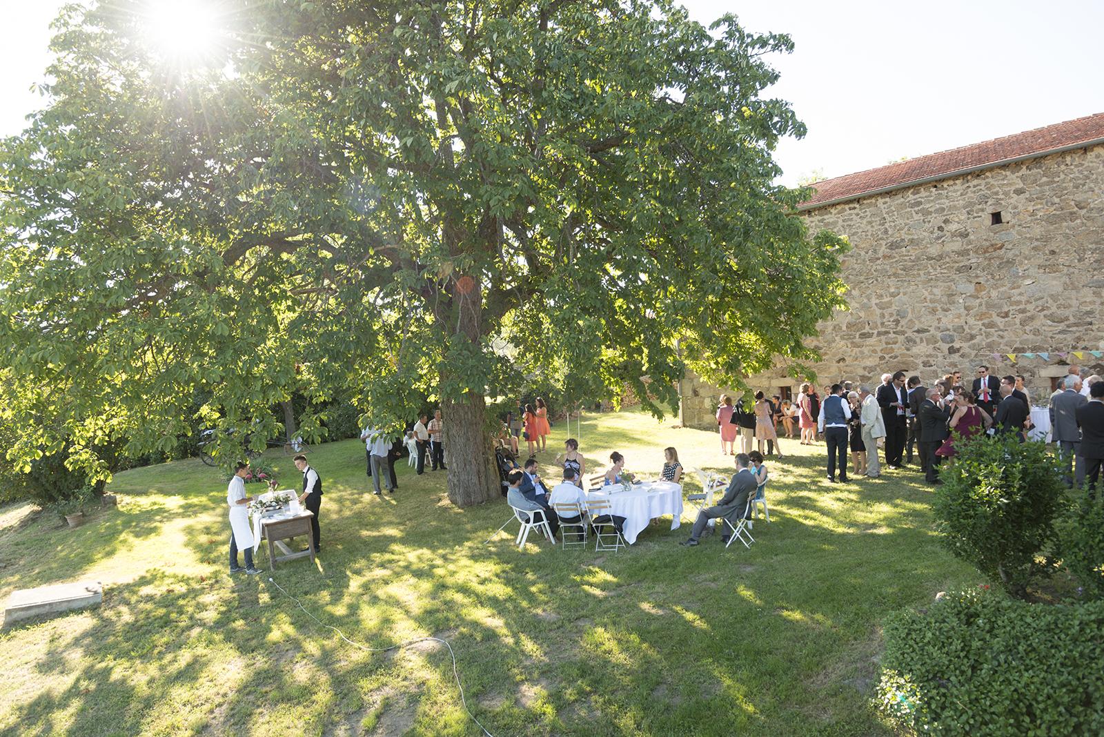 Photo du jardin familial cocktail mariage