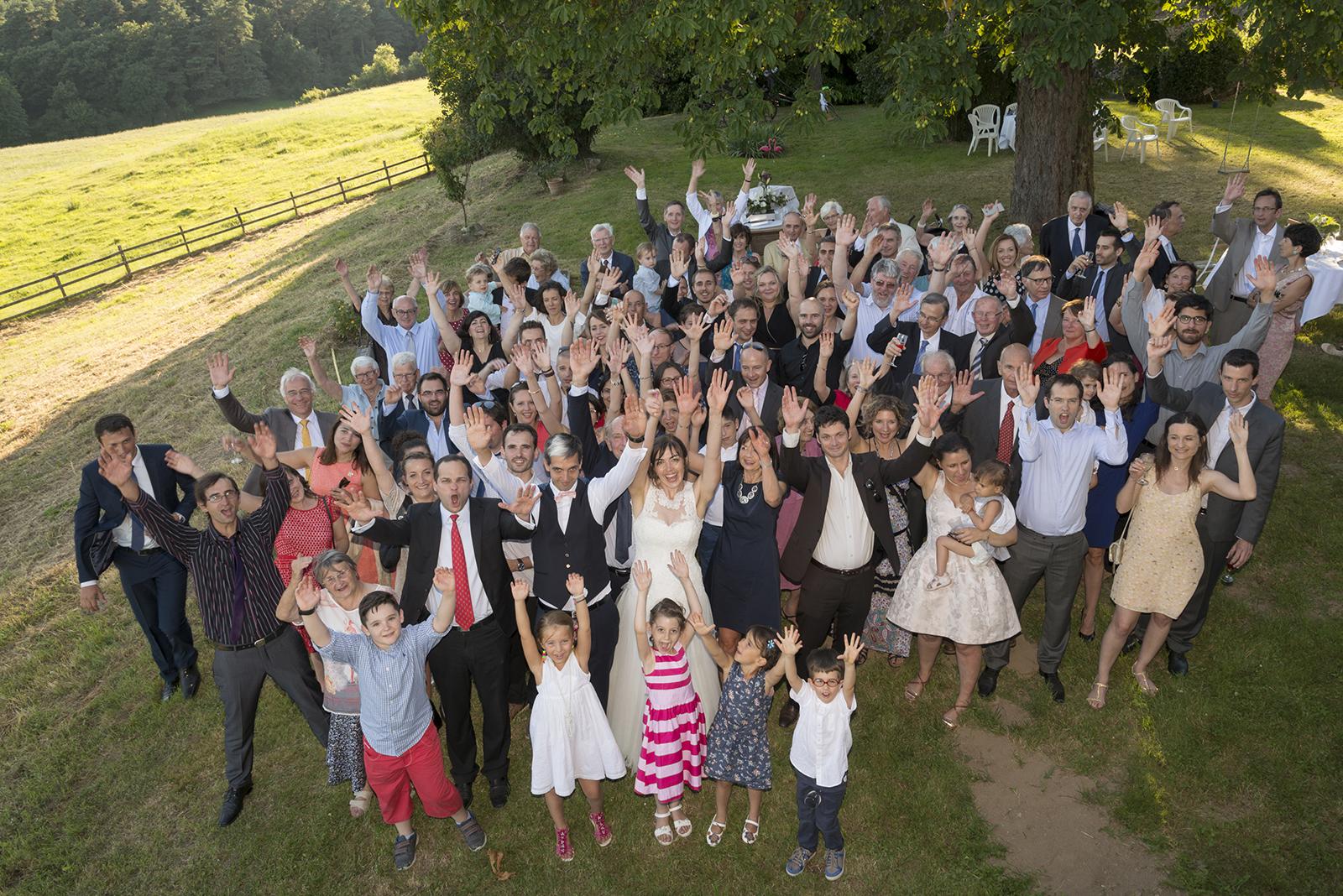 photo de groupe mariage