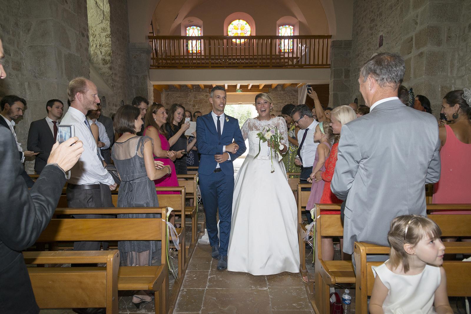 l'arrivée de la mariée à l'église