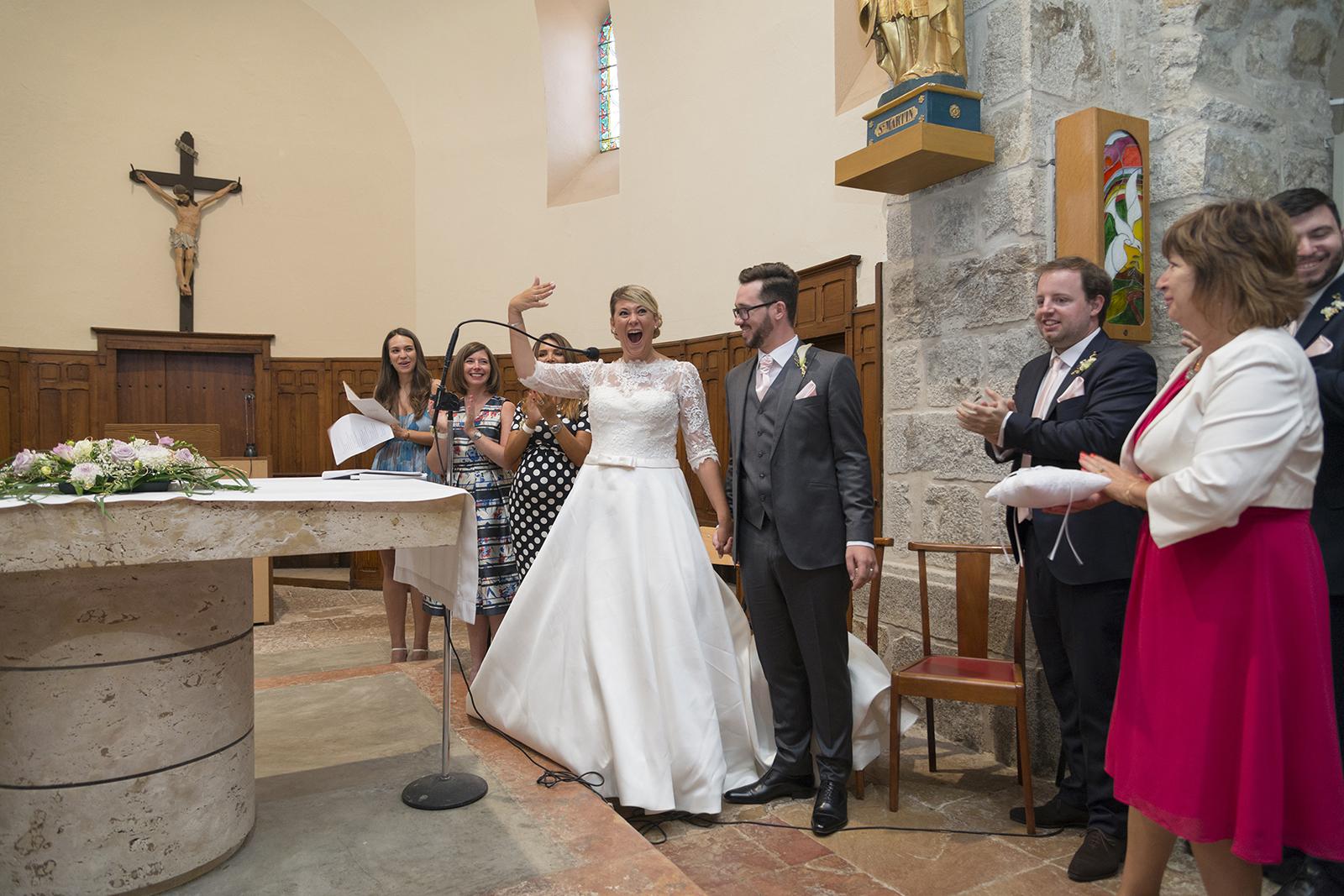 mariés à l'église de roiffieux