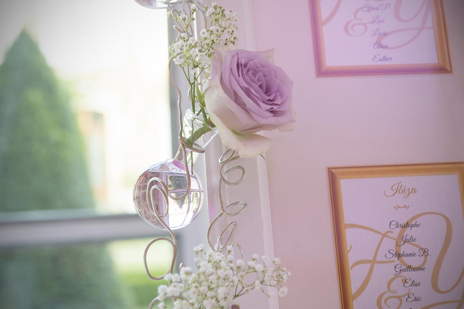 fleur mariage au château des Gaudras à Roiffieux