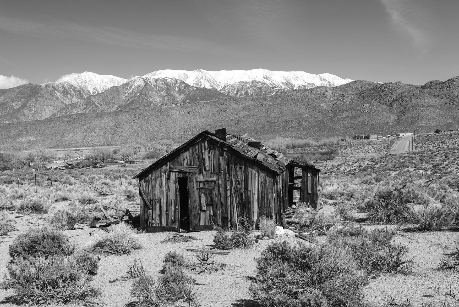 vieille maison americaine dans le desert