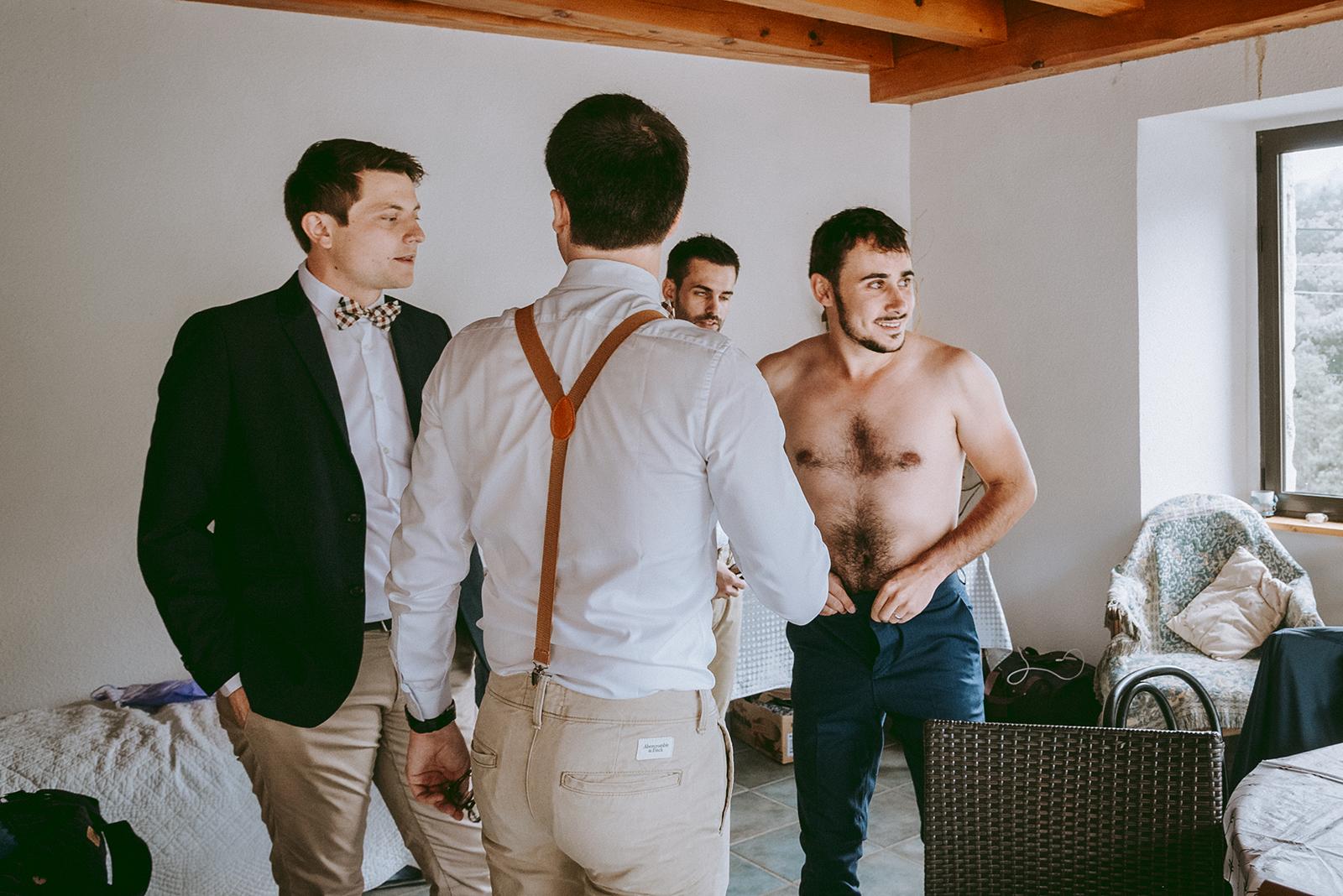 photo preparation marié