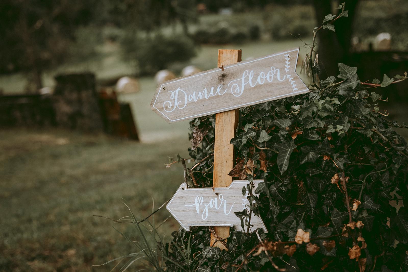 décoration de mariage palette